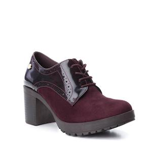 e10f514d5 Zapato Mujer Xti Cordones Burdeos